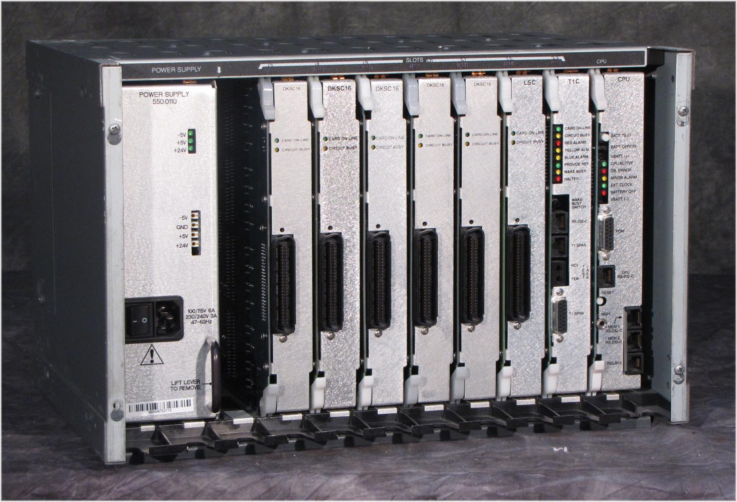 Inter-Tel Mitel Axxess PBX KSU chassis with cards